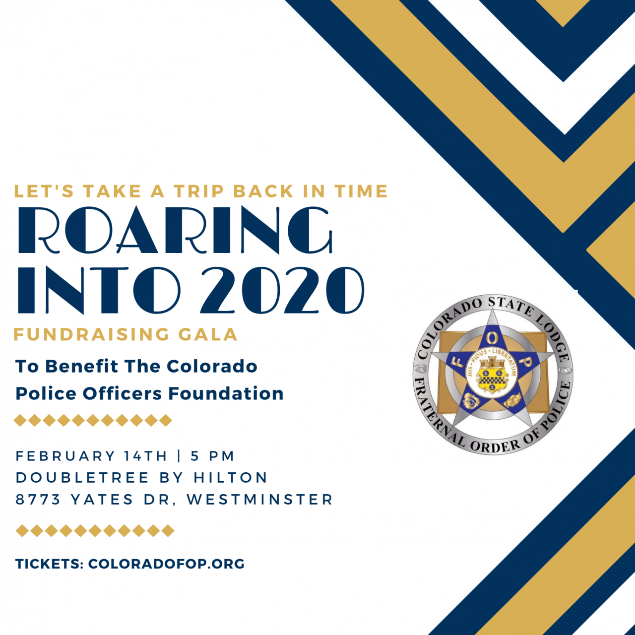 "Join Us February 14th, 5pm for ""Roaring into 2020"" Benefit Gala"
